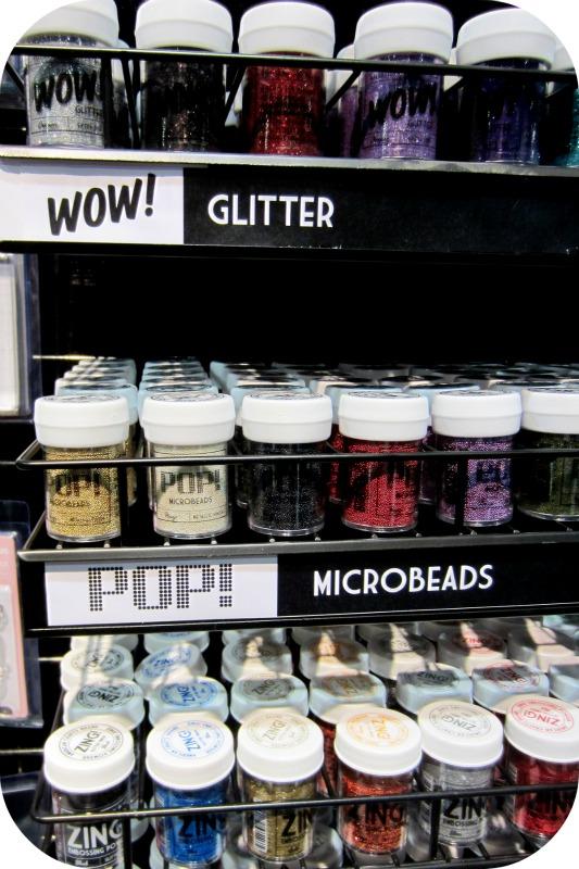 American crafts write click scrapbook microbeads glitter cha