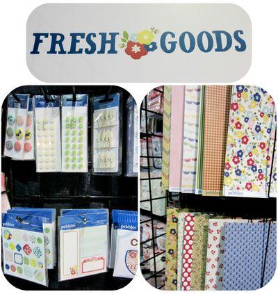 Pebbles write click scrapbook cha fresh goods