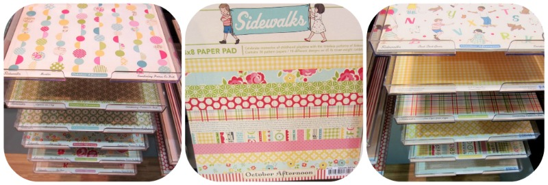 October afternoon sidewalks write click scrapbook cha