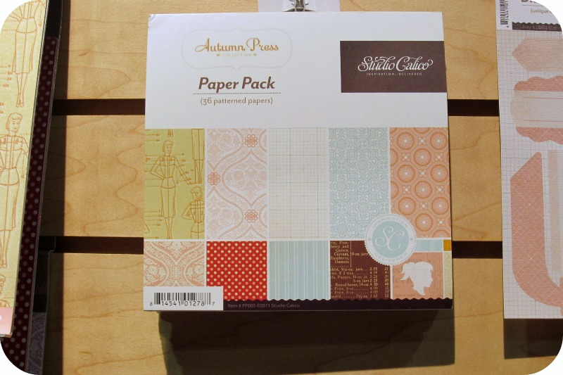 Studio calico mini paper pad write click scrapbook cha