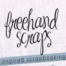 Freehand scraps logo write click scrapbook