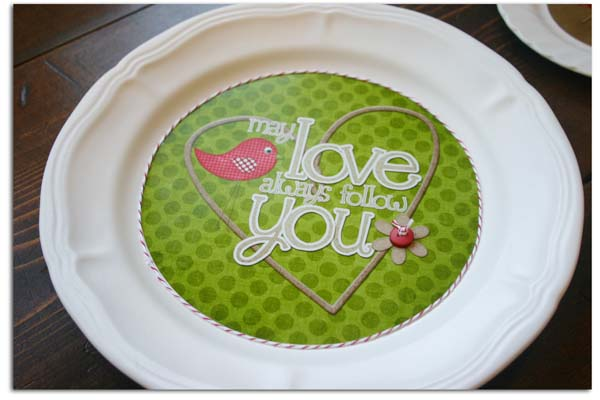 May love always follow you plate