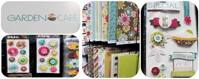 American crafts garden cafe write click scrapbok cha