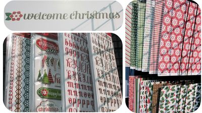 Pebbles welcome christmas write click scrapbok cha