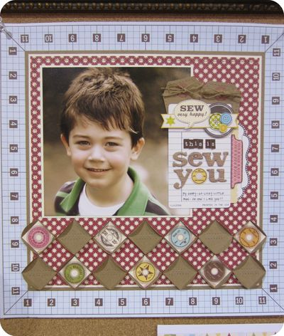 Write click scrapbook jillibean sewing line cha