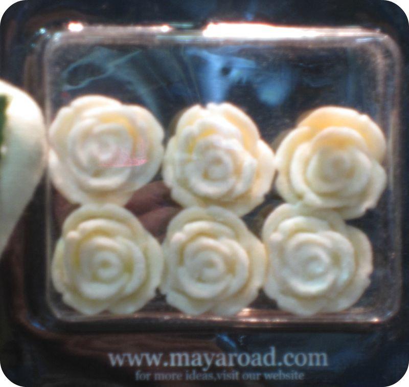 Maya road resin flowers write click scrapbook cha