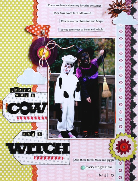 There was a cow and a witch