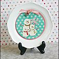 Upcycled Winter Plate | Cheryl Overton