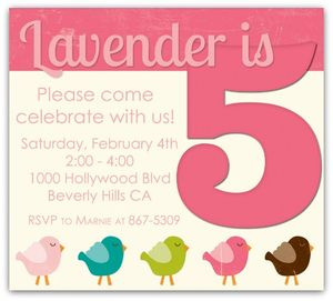 Lavender's birthday invitation