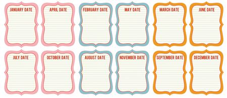 Date cards write click scrapbook