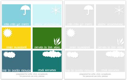 Writeclickscrapbook_projectlife_weather