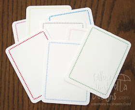 Dotted frame card