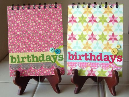 Birthday calendars_covers