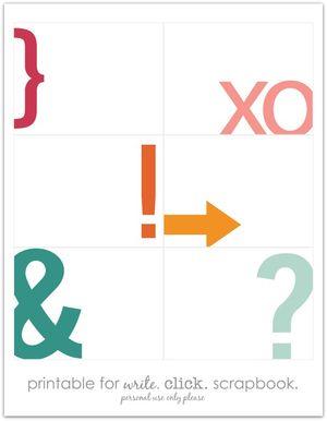 Write click scrapbook project life our symbols