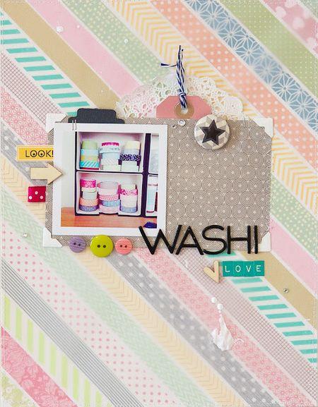 Teka washi paper layout