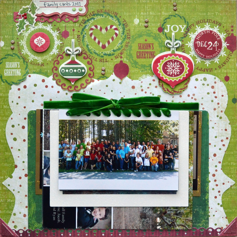 Family christmas cards layout 1