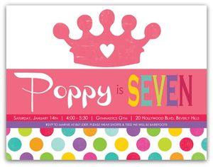 Poppys bday invite