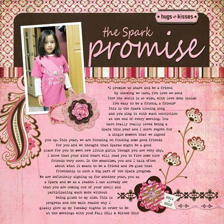 The Spark Promise bitterweet basic grey write click scrapbook