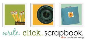 Write click scrapbook logo 2011