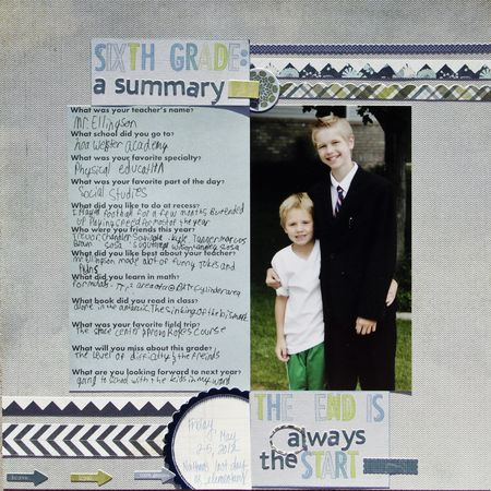 June school summary n layout