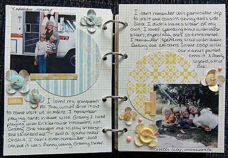 My Life mini pages 6-7