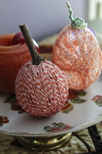 Twine pumpkins no2