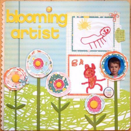 Blooming artist