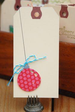 Tags ornament