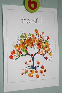 thankful fingerprint leaves