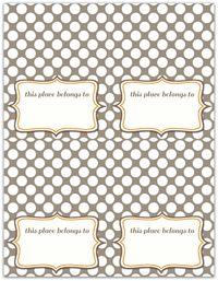 Thanksgiving placecard write click scrapbook
