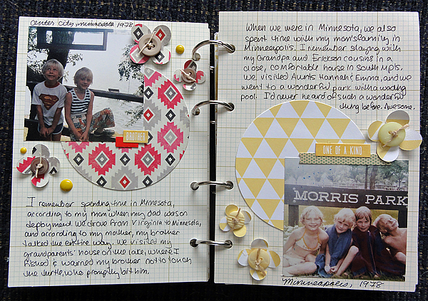 My Life mini pages 4-5