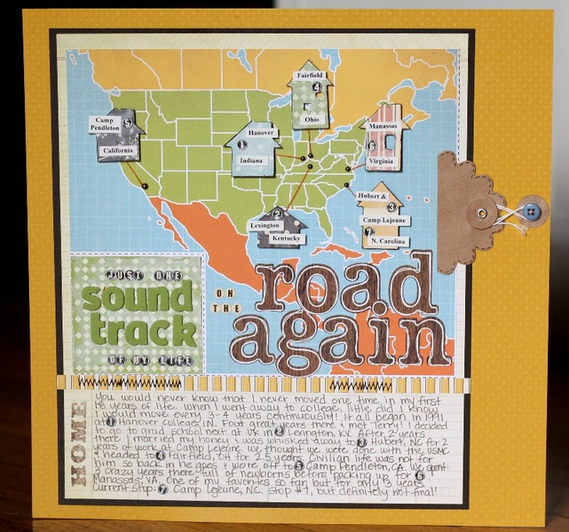 Christa Paustenbaugh Layout On The Road Again CK