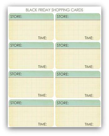 Black friday shopping list write click scrapbook