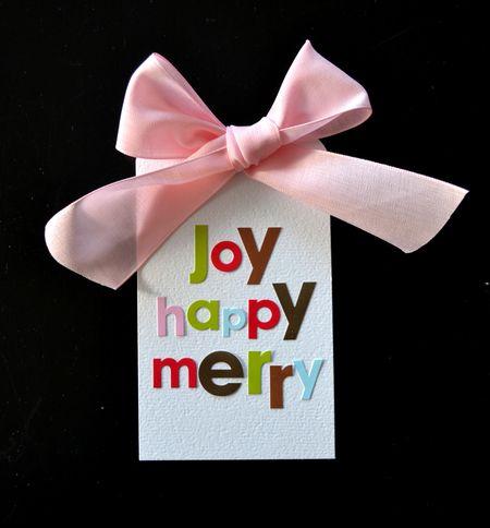 WCS Joy Happy Merry Tag