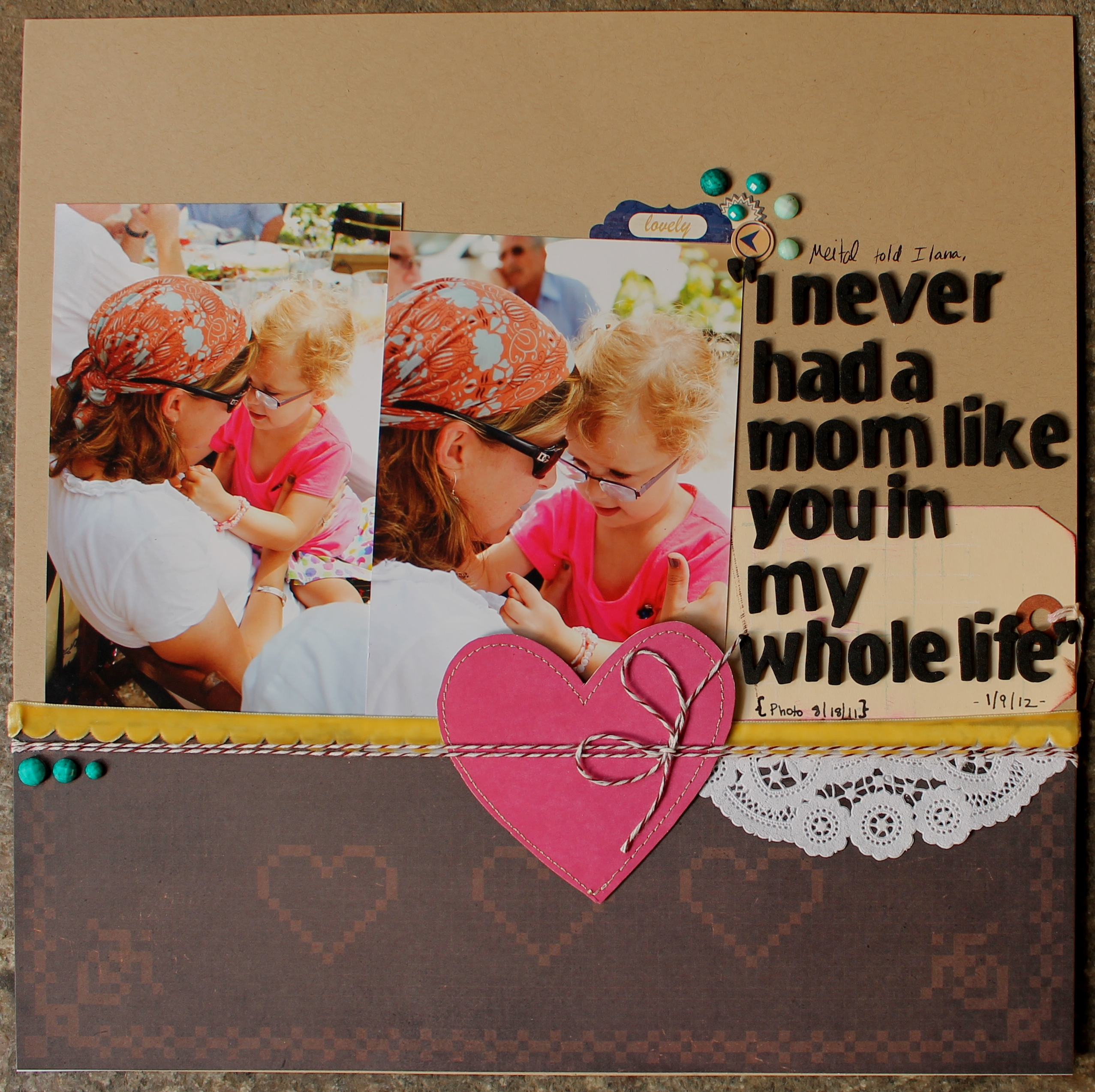 Scrapbook ideas relationships - It Is Also A Good Reminder That Great Layouts Don T Need A Whole Column Of Journaling To Touch Our Hearts