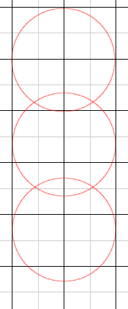 3 circles before weld