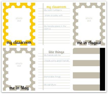 School mini album write click scrapbook page 2