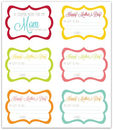 Mothers day coupon book