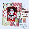First Photo with Santa | Valerie O'Neall