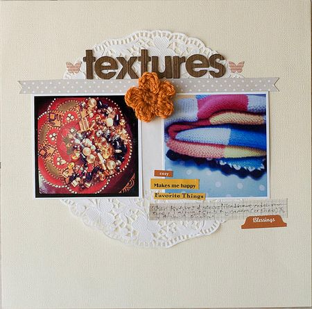 Crochet flower onTextures Layout by Francine Clouden-2