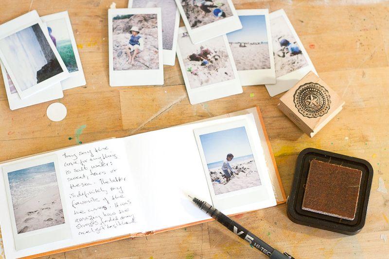 Mini Album for Instax or Instagram Photos Vintage Book Cover Callaloo Soup Designs-1