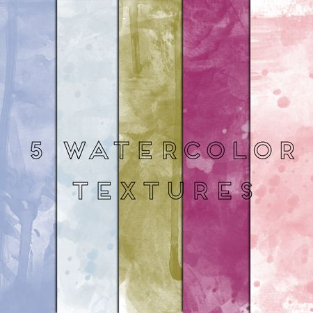 5 free Watercolor Textures