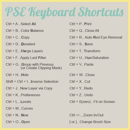 PSE-Shortcuts