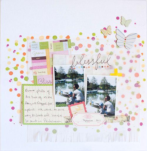 Bliss - Inky dots by Francine Clouden