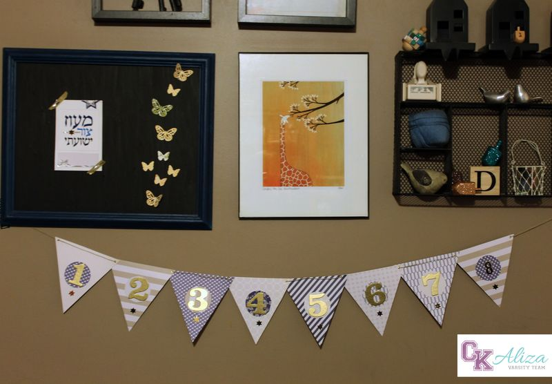 Chanukah banner with footer