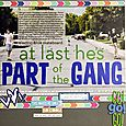"""Part of the Gang</br><span style=""""font-size: 8pt;"""">by</span> Amy"""