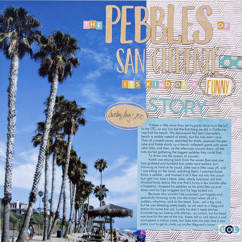 A sorensen pebbles of san clemente