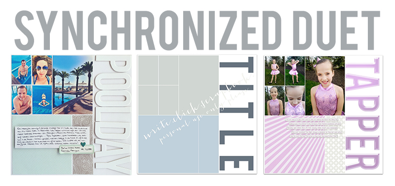 Synchronized duet two write click scrapbook