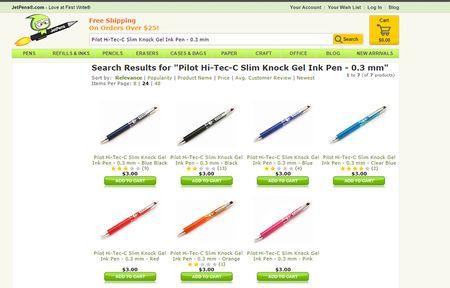 Jet pens