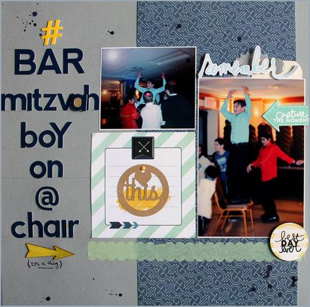Bar mitzvah boy on a chair